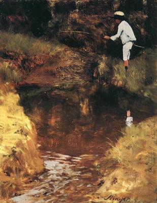 Pál Szinyei Merse. Fishing