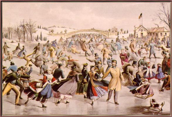 Айвз Керриер. Катание на коньках на пруду