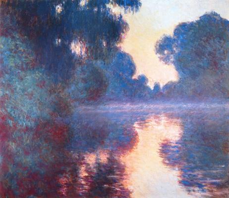 Клод Моне. Туманное утро на Сене в синем
