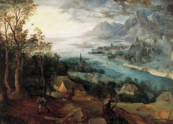 Pieter Bruegel The Elder. Landscape with the parable of the sower