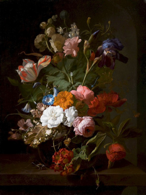 Rachelle Ruysch. Vase with flowers