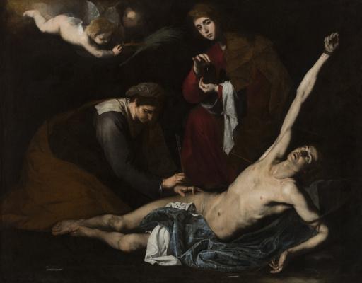 Святые женщины склоняются над святым Себастьяном