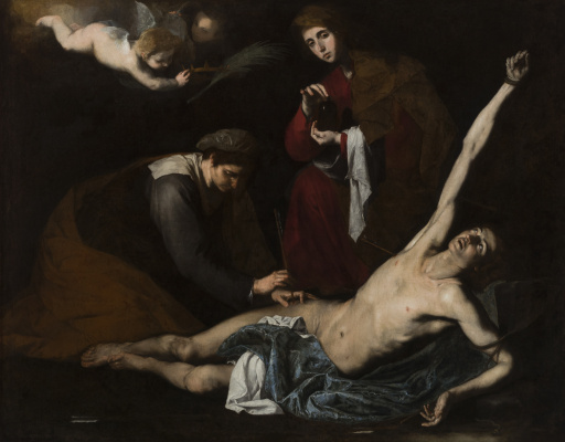 Jose de Ribera. Saint Sebastian Tended by the Holy Women
