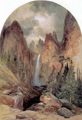 Моран. Водопад в горах