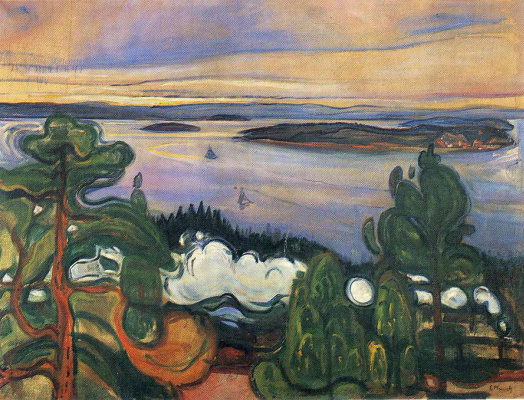 Edvard Munch. The smoke of the train