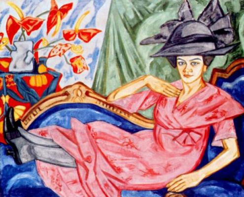Olga Vladimirovna Rozanova. Lady in pink