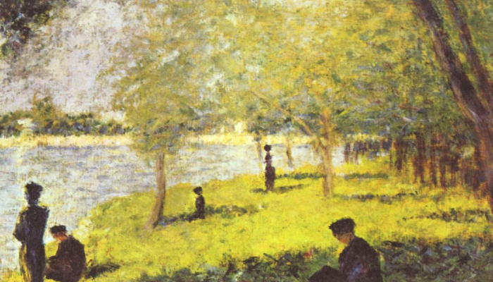 Georges Seurat. A group of figures