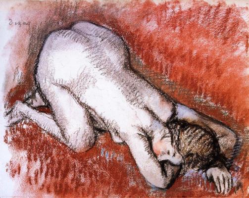 Edgar Degas. Naked, kneeling