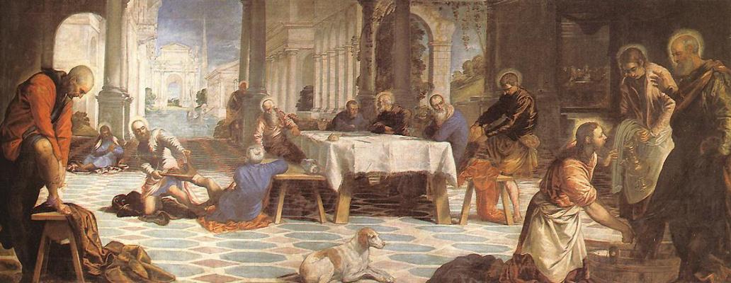 Якопо Тинторетто. Христос умывает ноги своим ученикам