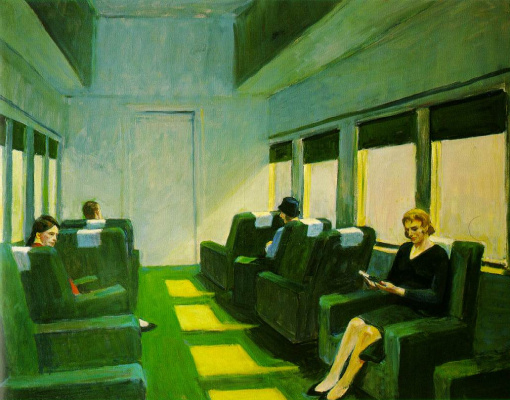 Edward Hopper. Chair car