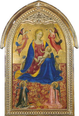 Fra Beato Angelico. Madonna and Child with four angels. About 1425