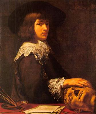Дарет. Мужской портрет с головой