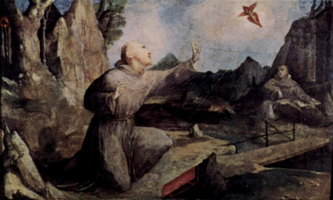 Domenico Beccafumi. SV. Francis with the stigmata