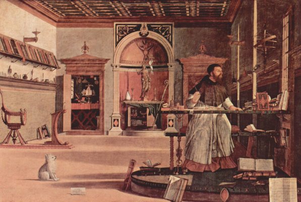 Vittore Carpaccio. The cycle of paintings of the chapel of the Scuola di San Giorgio Schiavoni, the vision of St. Augustine