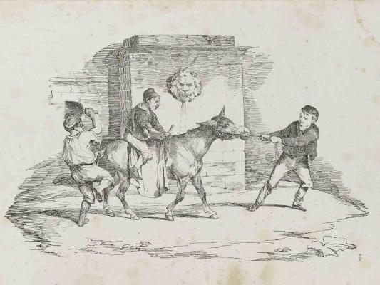 Théodore Géricault. Children with a donkey