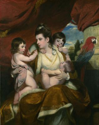 Joshua Reynolds. Portrait of a Lady Cockburn with her three eldest sons