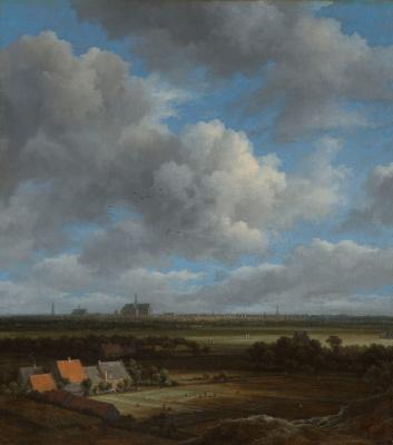 Jakob van Isaacs Ruisdael. View of Haarlem from the northwest