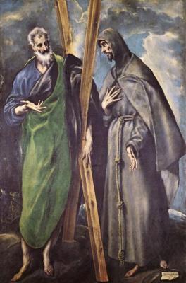 Эль Греко (Доменико Теотокопули). Святые Андрей и Франциск