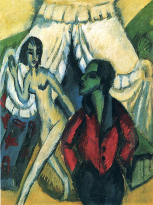 Ernst Ludwig Kirchner. Near the tent