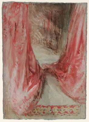 Joseph Mallord William Turner. Sketch pink canopy