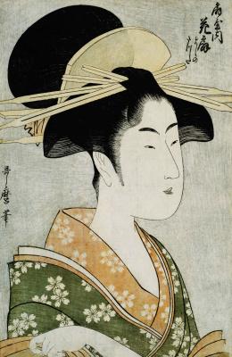 Kitagawa Utamaro. Courtesan, Haneji