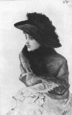 James Tissot. Portrait of a lady