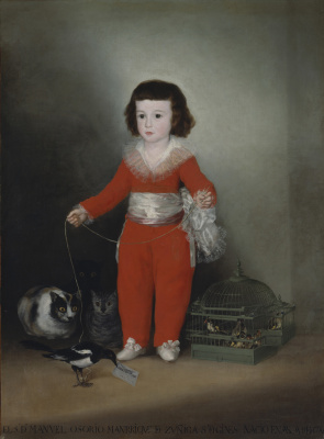 Francisco Goya. Don Manuel Osorio Manrique de zúñiga, child