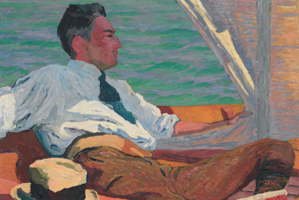 Giovanni Giacometti. Portrait of Richard Buhler in the sail boat