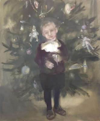 Elena Evgenievna Utenkova-Tikhonova. Christmas tree