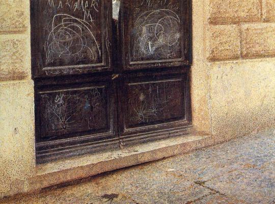 Giacomo Balla. The door
