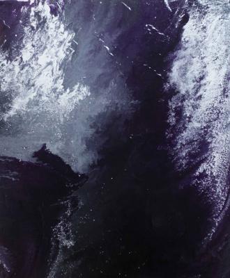 "Alla Struchayeva. Painting ""Ice Night in the Universe"""