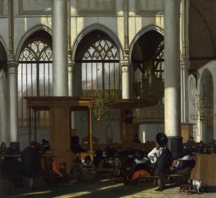 Эмануэль де Витте. Интерьер Аудекерк, Амстердам