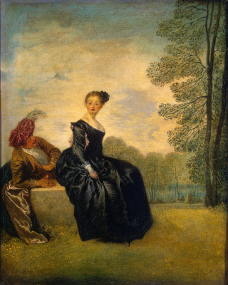Antoine Watteau. The Capricious Girl