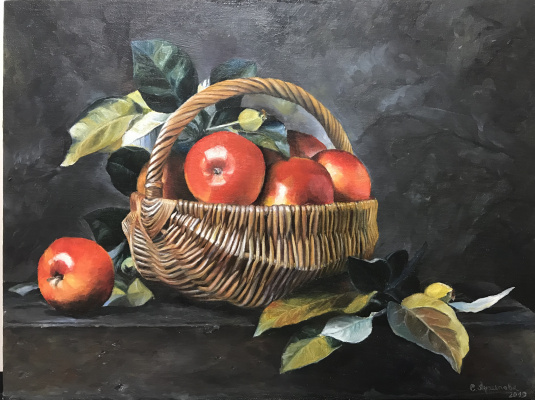 Svetlana Ivanova. Apples in a basket