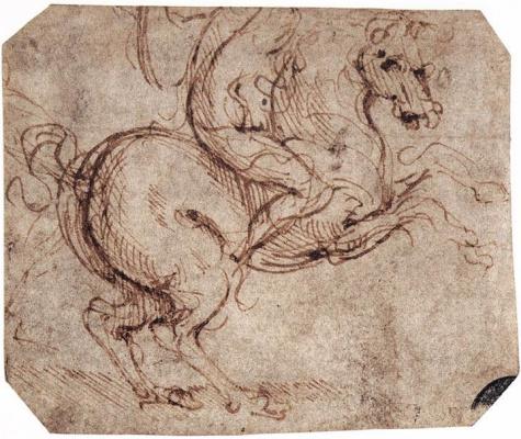Leonardo da Vinci. Sketch rider