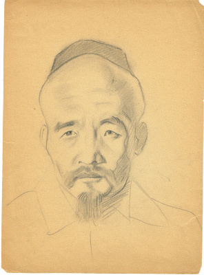 Unknown artist. Portrait Eastern men