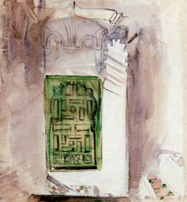 Эжен Делакруа. Марокканский интерьер. Зеленая дверь