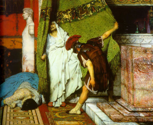 Лоуренс Альма-Тадема. Римский император Клавдий (фрагмент)