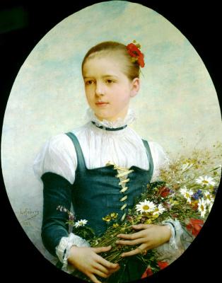 Jules Joseph Lefebvre. Portrait of Edna Baga from Connecticut
