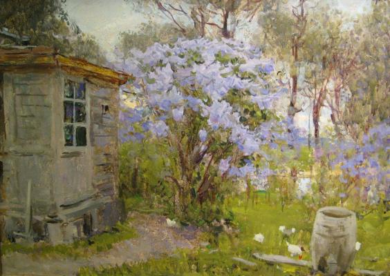 Sergey Vasilyevich Gerasimov. Lilac in bloom