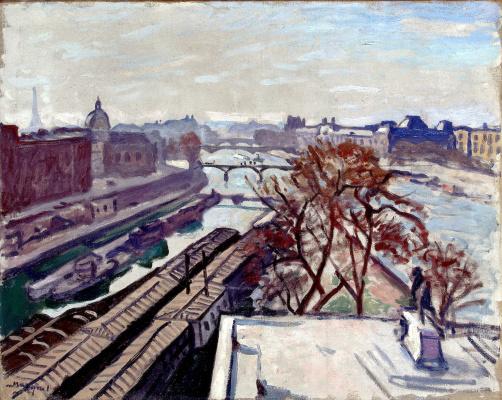 Марке, Альбер. Вид на Сену и памятник Генриху IV