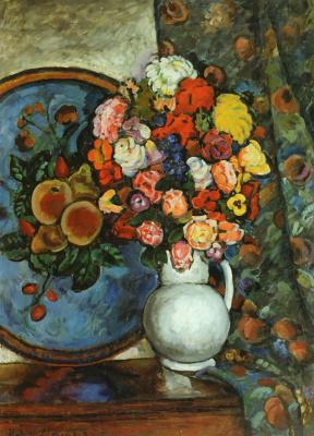 Ilya Ivanovich Mashkov. Still life. Flowers in a vase