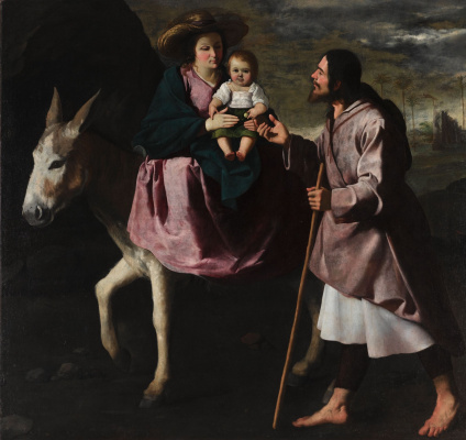 Francisco de Zurbaran. The flight into Egypt