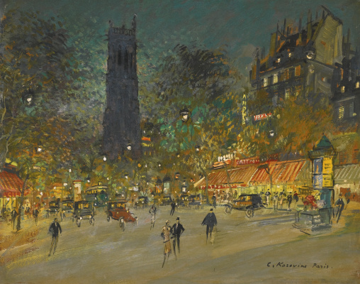 Konstantin Korovin. Tower Saint-Jacques