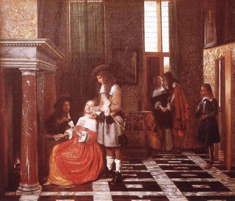 Pieter de Hooch. The card players