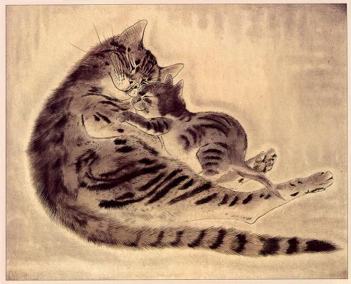 Таугуджи Фоуджита. Две кошки
