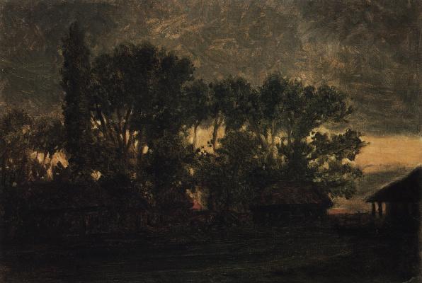 Nikolai Nikolaevich Ge. Dawn. Khutor Ivanovskiy. Etude
