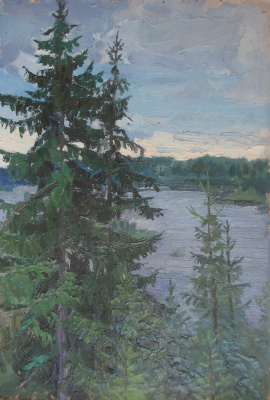 Nina Vasilievna Sedova. Above a river