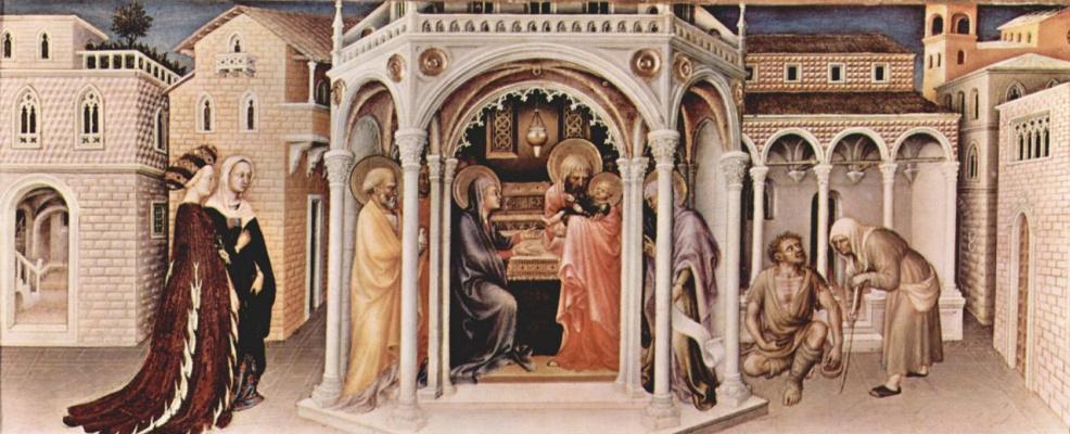 Gentile da Fabriano. The presentation in the temple
