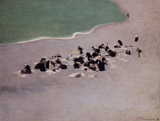 Felix Vallotton. Women washing on the beach